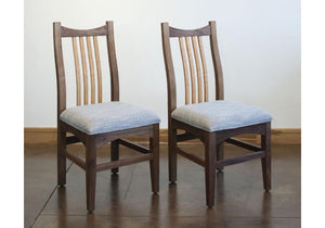 Artisan Chair shown as a side chair with upholstery seat, handmade seating order online with delivery in VA, MD, and DC