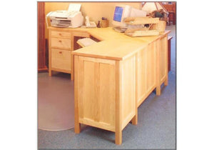 "Craftsman 70"" Corner Desk by Hardwood Artisans, a bespoke Office Furniture/Workstation maker for Professionals in VA, MD, DC"