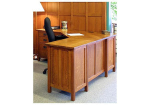 "Craftsman 70"" Corner Desk by Hardwood Artisans, a custom Office Furniture and Workstation maker for Executives in DMV area"