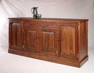 Shaker Hampton Sideboard shown in Walnut, a generational dining room furniture piece by Hardwood Artisans, a premium brand
