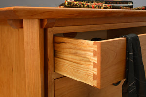 Waterfall Shogun Chest in Natural Cherry features handcrafted bedroom furniture wardrobe by Hardwood Artisans Brookeville MD