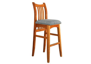 Artisan Stool is a bar / counter-height natural solid hardwood Kitchen / Bar Chair, Bar / Counter Stool Hand Made in Virginia