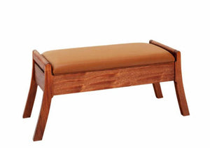 Artisan Window Bench in Mahogany, Hardwood Artisans Furniture