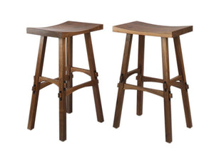 Shinto Bar Height Stool in Walnut is a bar & counter-height natural solid hardwood Kitchen or Bar Chair, Bar or Counter Stool