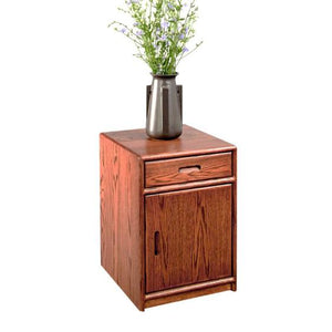 Contemporary Nightstand available in red oak, birch, maple, cherry, mahogany, curly maple, or 1/4 sawn white oak hardwood, VA