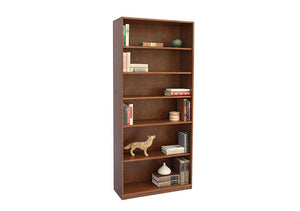 Basic Bookcase  in Cherry with Mahogany Wash is heirloom quality furniture made to order using Amish joinery techniques in VA