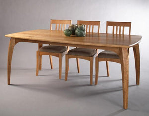 Linnaea Table shown with Middleburg Side Chairs in Natural Cherry Fine Handmade Dining and Kitchen Furniture near Bowie MD