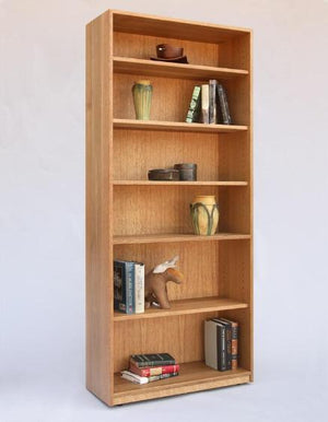 Basic Bookcase in 1/4-Sawn White Oak with English Oak Stain a solid hardwood case construction made by Hardwood Artisans, VA