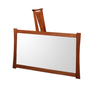 Waterfall Mirror Horizontal/Vertical in Mahogany, walnut, birch, maple, cherry, curly maple, red or 1/4-sawn white oak woods