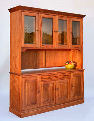 Shaker Hampton Sideboard and Custom Hutch in Mahogany