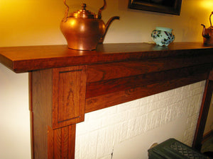 Custom Fireplace Mantel in Cherry with Americana Stain