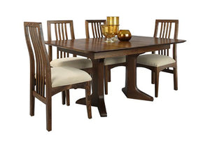 Century Table in Mahogany made with sustainable harvested hardwood also comes in an extension version dining room table
