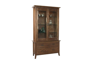 Simply Beautiful China Cabinet (or Century Cabinet) shown in Walnut offers premium features that go beyond simple storage