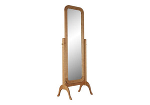 Cheval Mirror in Natural Cherry would make a unique self-standing bedroom floor mirror gift handcrafted near Chantilly, VA