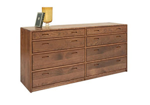 Contemporary 8-Drawer Dresser in Walnut displays a modern bedroom furniture style made by Artisans near Washington DC, VA, MD