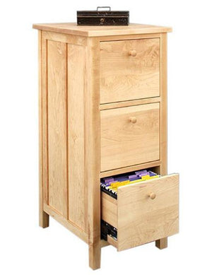 Craftsman 3-Drawer File Cabinet in Maple, Hardwood Artisans Furniture
