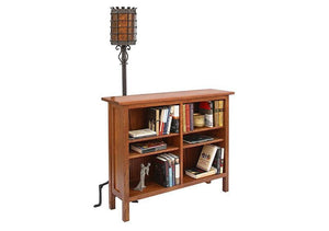 Craftsman Bookcase in 1/4-Sawn White Oak wood with English Oak Stain, Living Room Furniture is made to order, Made in the USA