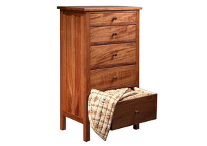 Craftsman Lingerie Chest in Mahogany, arts & crafts style bedroom furniture dresser by Hardwood Artisans for Dinwiddie County
