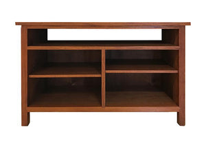 Front of Craftsman TV Stand in Mahogany, Hardwood Artisans Furniture
