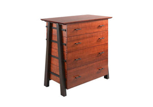 Custom Bedroom Furniture featuring a hardwood dresser / chest, quality made in the USA by Hardwood Artisans in Culpeper VA