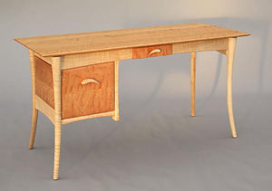 Custom Office Designs - writing desk by Hardwood Artisans a working professional home office furniture near Fairfax County VA