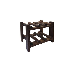 Small Wine Rack in Walnut and assorted hard woods for table or counter-top, quality furniture available at Hardwood Artisans