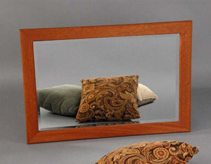 Chamfer Mirror is American made in mahogany, walnut, birch, maple, cherry, curly maple, red or 1/4-sawn white oak hardwoods