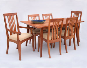 Simply Beautiful Table shown w/ Middleburg Arm and Side Chairs in Mahogany Kitchen/Dining Furniture sets at Hardwood Artisans