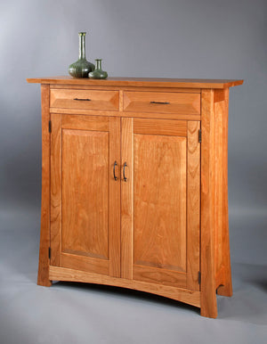 Mackintosh Linen Press in Natural Cherry