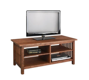 Crofters TV Stand in Cherry with Mahogany Wash Living Room furniture Made in the USA by Hardwood Artisans near Great Falls VA