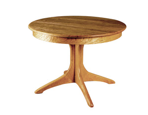 Walden Small Round Table in Natural Cherry made for you kitchen and dining room furniture designed for small spaces