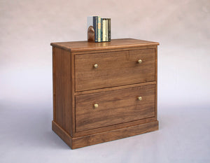 Shaker 2-Drawer Lateral File Cabinet in Walnut