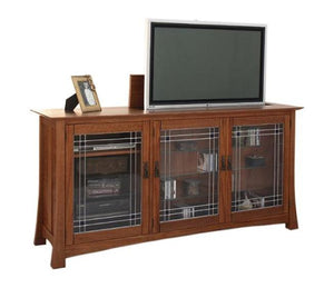 Glasgow TV Lift is custom-crafted, hand-finished, solid hardwood living room furniture w/ Amish joinery by Hardwood Artisans
