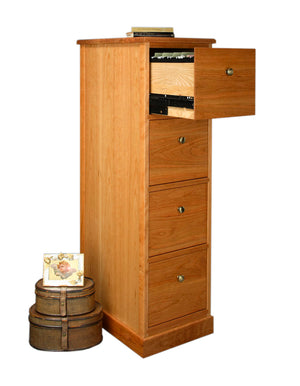 Shaker 4-Drawer File Cabinet in Natural Cherry