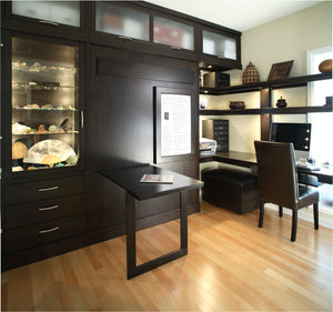 Office Built-Ins by Hardwood Artisans feature modern, efficient, storage cabinets, book shelves or cases near Shirlington VA