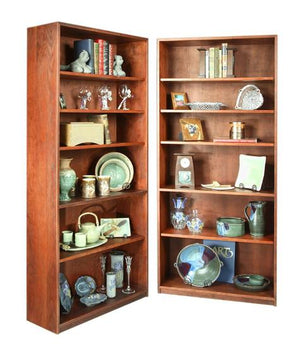 Basic Bookcase in Cherry with Mahogany Wash by Hardwood Artisans have solid wood shelves for organizing or displaying items