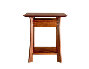 Waterfall Nightstand in Mahogany with Maple Accents by Hardwood Artisans is a bedroom bed table handmade near Montgomery MD