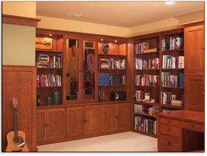 Office Built-Ins by Hardwood Artisans feature built-in cabinet/s or bookcase/s for home/office in VA, Maryland, Washington DC