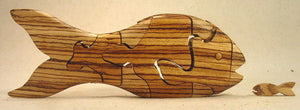 Chapman Puzzle Goldfish in Leopardwood made in USA at Hardwood Artisans in Bethesda, Maryland
