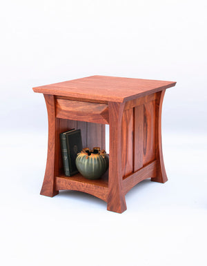 Mackintosh End Table in Mahogany custom-crafted, solid hardwood, Amish joinery, hand-finished furniture near Spotsylvania, VA