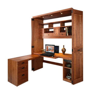 Computer Workstation with L-shaped desk option for your office, handmade furniture available in Virginia, Maryland and DC