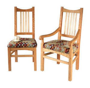 Highland Arm and Side Chairs in Natural Cherry with Sycamore Slats
