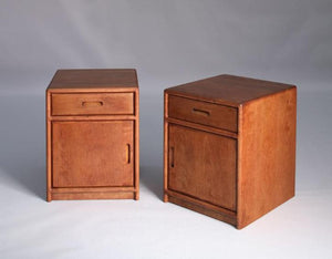 Contemporary Nightstands with Optional Door in Cherry with a Mahogany Wash