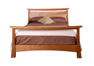 Glasgow Bed in full, queen, & king sizes available in assorted hardwoods features quality bedroom furniture Made in the USA