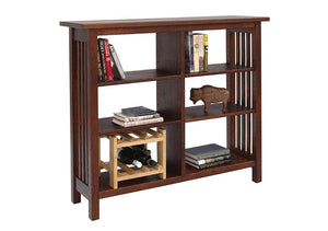 Crofters Bookcase in 1/4-sawn white oak wood with Chatauqua Stain, Living Room Furniture, is made to order, Made in the USA