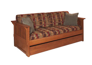 Crofters Daybed sofa bed features solid wood furniture & custom craftsmanship by Hardwood Artisans in the Washington DC area