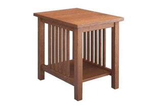 Crofters End Table in 1/4-Sawn White Oak with English Oak Finish, by Hardwood Artisans is made to order near Clarksburg, MD