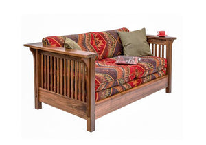 Crofters Loose Seat Loveseat in walnut, birch, maple, cherry, mahogany, curly maple, red or 1/4-sawn white oak woods in VA