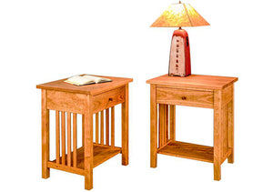 Crofters Nightstand in Natural Cherry is superior quality bedroom furniture by Hardwood Artisans near Fairfax Station VA