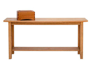Crofter's Sofa Table showing time-honored, mortise and tenon construction w/ a distinct unique subtle curve on the front edge